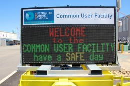 Outdoor LED Sign - Safety or Gatehouse signage