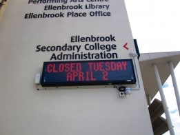 Outdoor LED Sign - Ellenbrook School