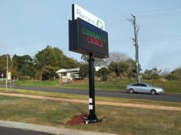 Double Sided Outdoor LED Message Sign - Church sign