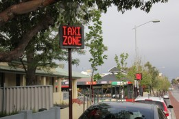 Outdoor LED Message Signs - Taxi Stand