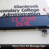 LED School Sign for Ellenbrook College
