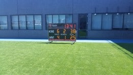 Recent LED Scoreboard supplied to the Fremantle Dockers training facility