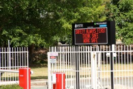 Outdoor LED message Sign at Water Corp in Perth